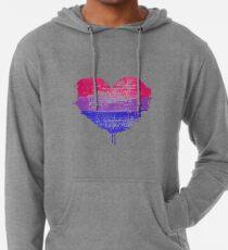 Bisexual Pride Heart Lightweight Hoodie