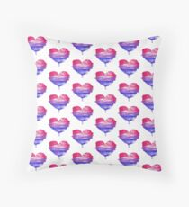 Bisexual Pride Heart Floor Pillow