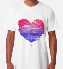 Bisexual Pride Heart Long T-Shirt