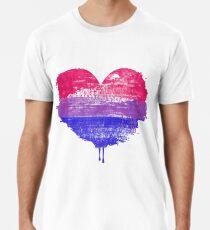 Bisexual Pride Heart Premium T-Shirt