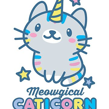 Meowgical Caticorn Magical Unicorn Cat Lover by DetourShirts