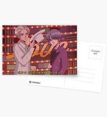 BTS RM & SUGA - Junge mit luv 90's Anime Postkarten