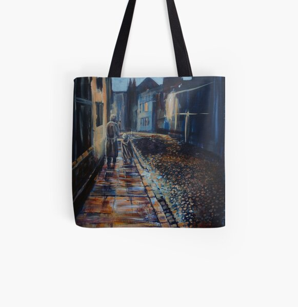 Tolkien and Bilbo in Oxford All Over Print Tote Bag
