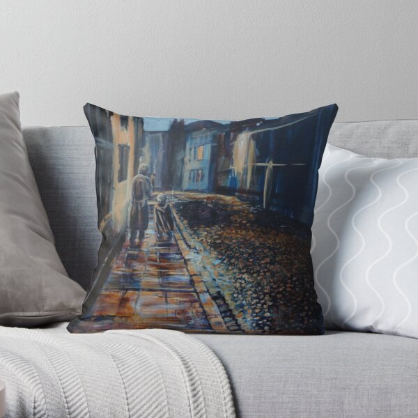 Tolkien and Bilbo in Oxford Throw Pillow