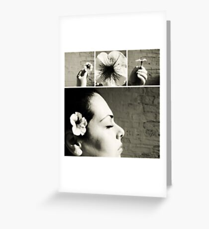 a flower. Greeting Card