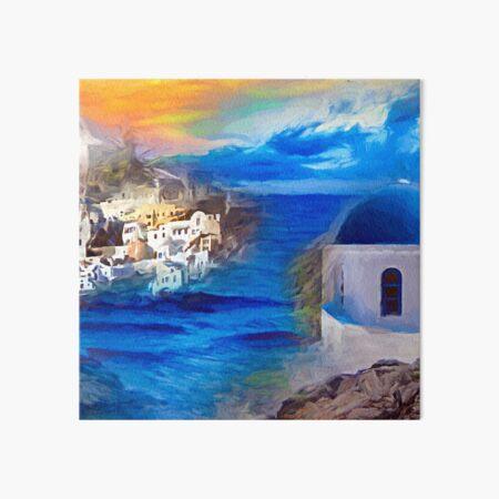 Santorini Dreamscape Galeriedruck