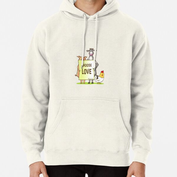 Pig, cow and chicken love Pullover Hoodie