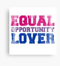 Equal Opportunity Lover Metal Print