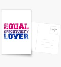 Equal Opportunity Lover Postcards