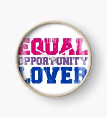 Equal Opportunity Lover Clock