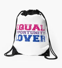 Equal Opportunity Lover Drawstring Bag