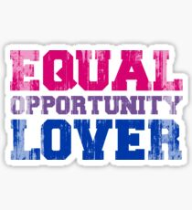 Equal Opportunity Lover Sticker