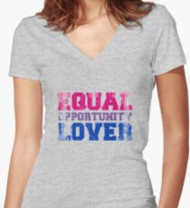 Equal Opportunity Lover Fitted V-Neck T-Shirt