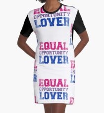 Equal Opportunity Lover Graphic T-Shirt Dress
