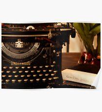 Underwood Typewriter - American Standard Poster