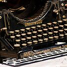 Underwood Typewriter Frenzy by DeerPhotoArts