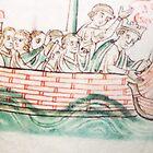 Matthew Paris eigene Hand 1259 Historia Anglorum Detail British Museum England 19840925 0013 von Fred Mitchell
