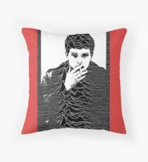 Ian Curtis+ Unknown Pleasures= perfection  Throw Pillow