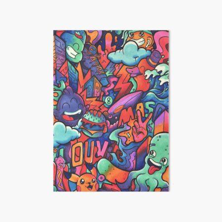 L O U V I C // Copic Marker Doodle Art Board Print