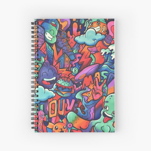 L O U V I C // Copic Marker Doodle Spiral Notebook