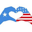 We Heart Somalia & USA Patriot Flag Series by Carbon-Fibre Media