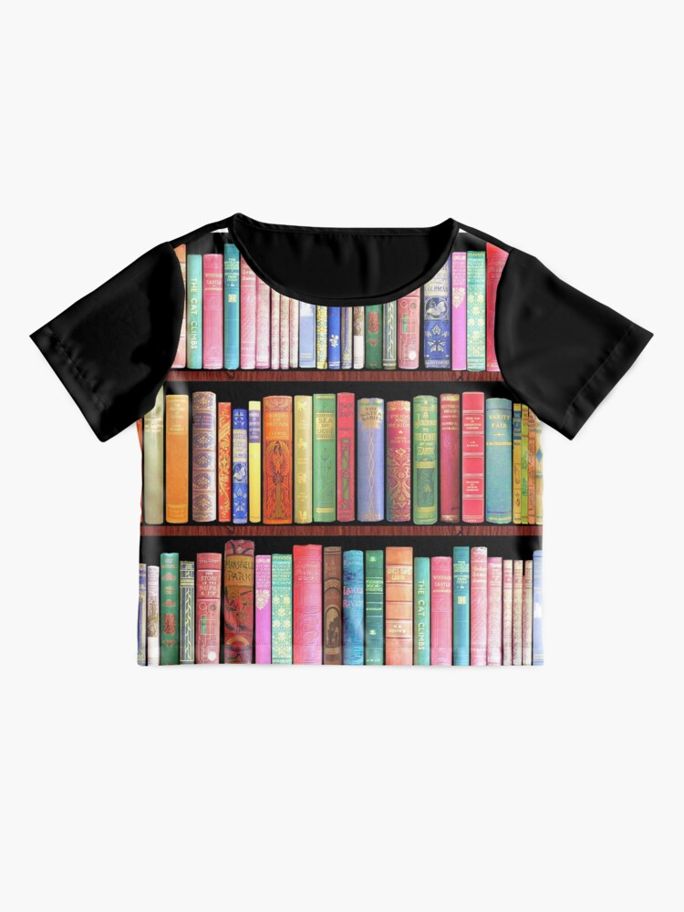 Alternate view of Bookworm Antique books Chiffon Top