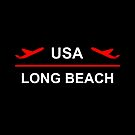 Long Beach USA Airport Plane Dark Color by TinyStarAmerica
