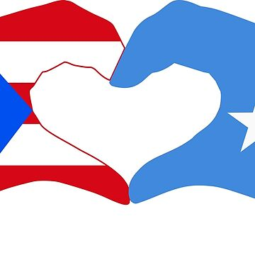 We Heart Puerto Rico & Somalia Patriot Flag Series by carbonfibreme