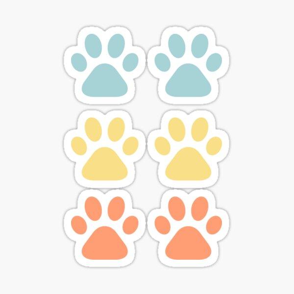 Colorful Dog Paw Prints - Goldendoodle Golden Doodle Sticker Set Sticker