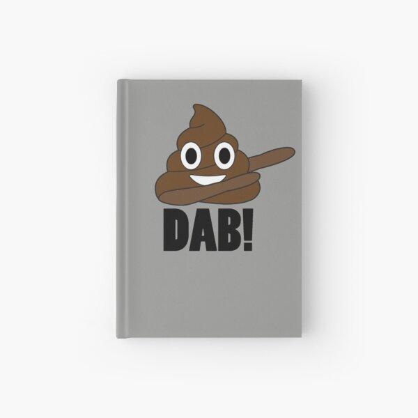 Poop Dab Emoji Hardcover Journal