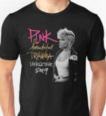 Rosa Trauma-Welttournee Slim Fit T-Shirt