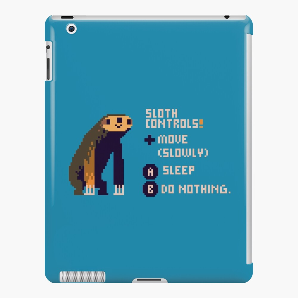 sloth controls! iPad Case & Skin