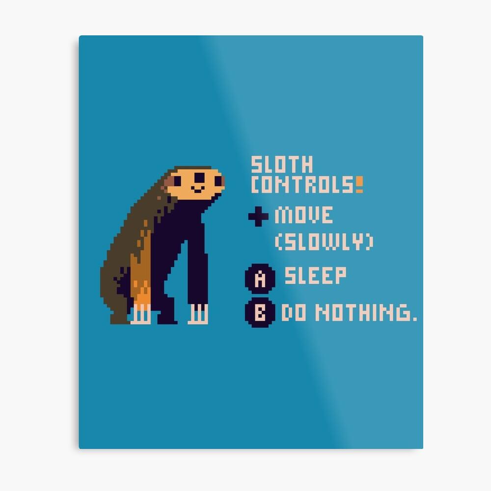 sloth controls! Metal Print