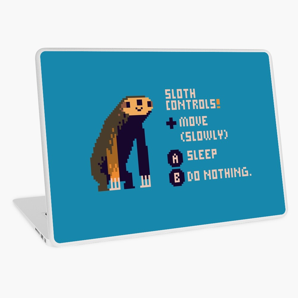 sloth controls! Laptop Skin