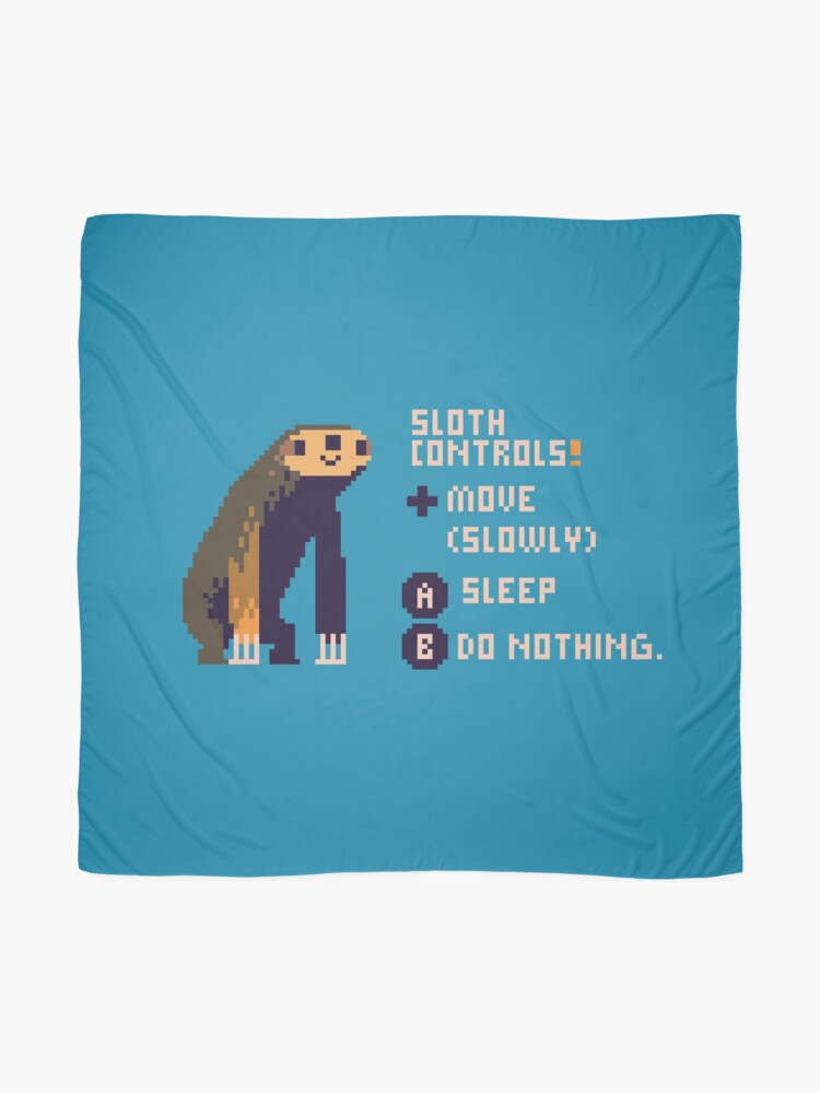 Alternate view of sloth controls! Scarf