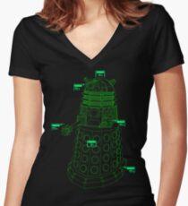 Exterminate the Robot - Dark Women's Fitted V-Neck T-Shirt
