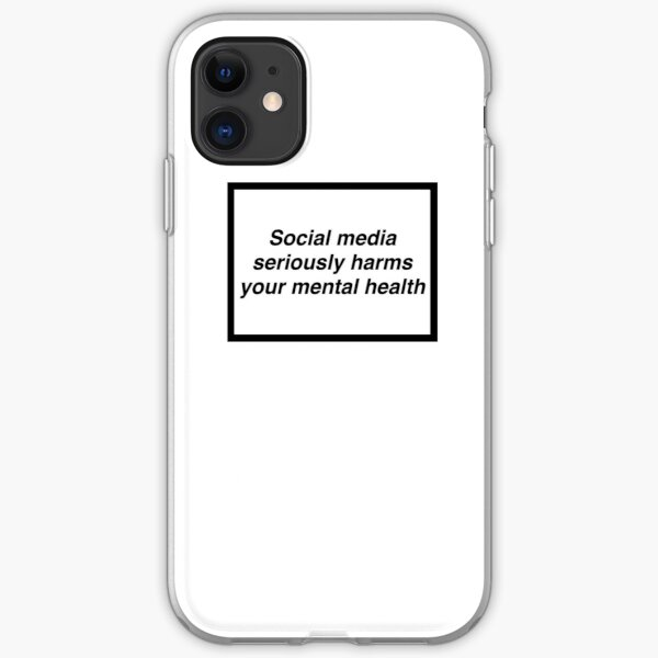 Social Media seriously harms your mental health phone case iPhone Soft Case