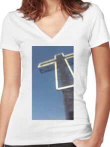 Cross Women's Fitted V-Neck T-Shirt