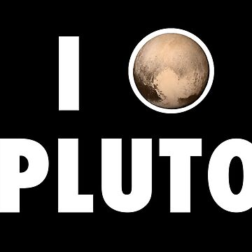 I Heart Pluto (White Text) by fairy911911
