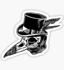 Crow Skull Top Hat Sticker