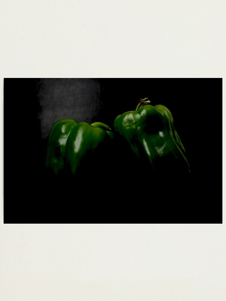 Alternate view of Two Green Peppers Photographic Print