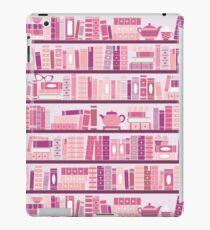 Pink Bookcase Pattern Romance Tea Books iPad Case/Skin