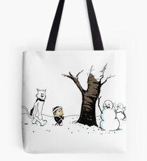 Jon and Ghost Tote Bag