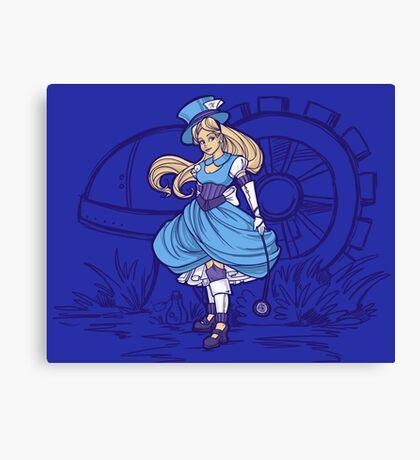 Steampunk Alice - Revised Canvas Print