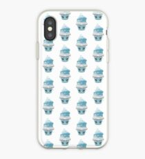 frierendes Cupcake Emoticon iPhone-Hülle & Cover