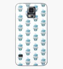 frierendes Cupcake Emoticon Hülle & Klebefolie für Samsung Galaxy
