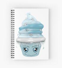frierendes Cupcake Emoticon Spiralblock