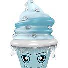 frierendes Cupcake Emoticon von Stefanie Keller