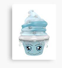 frierendes Cupcake Emoticon Metalldruck