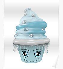 frierendes Cupcake Emoticon Poster
